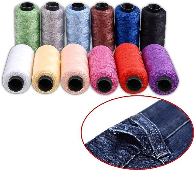 Kit de hilo para coser Hamhsin con 12 bobinas de hilo de poliéster ...