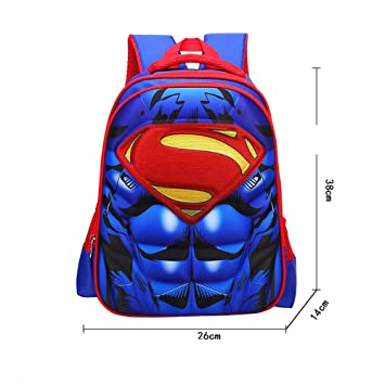 Backpacks 13 Inch Superman Kindergarten Backpack Kids School Bags For Boys Daily Backpacks Children Hero Batman Spiderman Bookbag Structural Disabilities Men's Bags