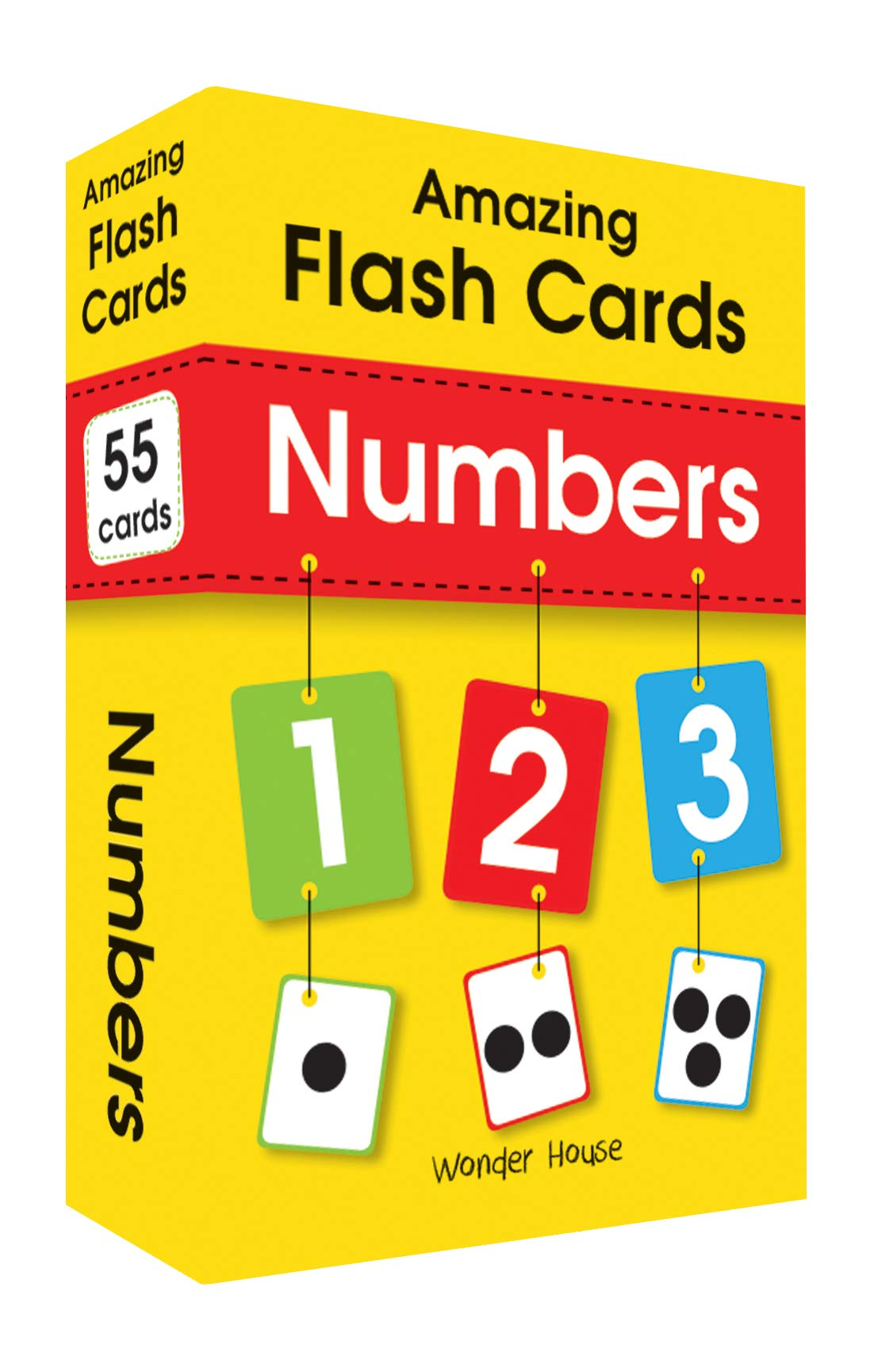Amazing Flash Cards Numbers: Early Development of Preschool Toddler (55 Cards)