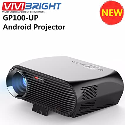 Vivibright GP100UP Android 6 0, 3500 Lumens LCD 1080P Full-HD LED Portable  Multimedia Home Theater Smart Projector for Movie, TVs, Laptops