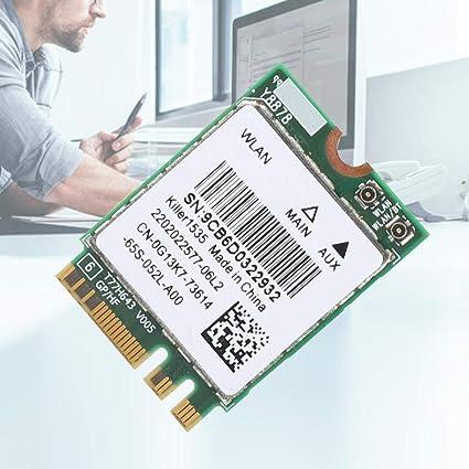 Tarjeta inal/ámbrica WiFi Tarjeta de Red para Sistema Win 7 RTL8822BE Tarjeta de Red para Sistema Win 8 y Win 10 Soporte para Bluetooth 4.2 Banda Dual 2.4G // 5G