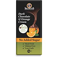 The Sugarless Company A Dark Chocolate and Orange Cream with stevia, 100 g