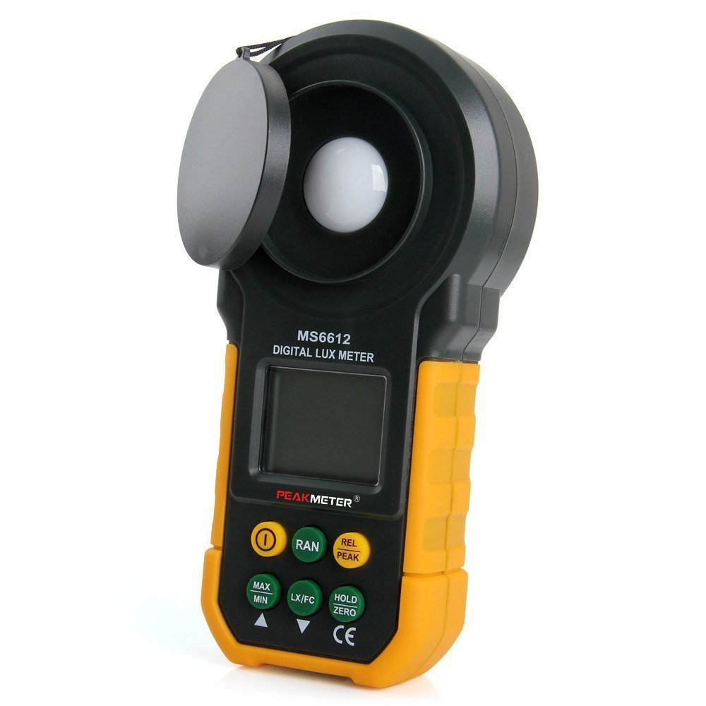 Epsilont 2000 Counts 0-200000 Lux/0-20000FC (0.01lux/0.01FC Resolution) Digital Lux Light Meter Lumenmeter Lux/FC Meters Luminometer with Auto Manual Range, Max/Min, Data Hold by Epsilont