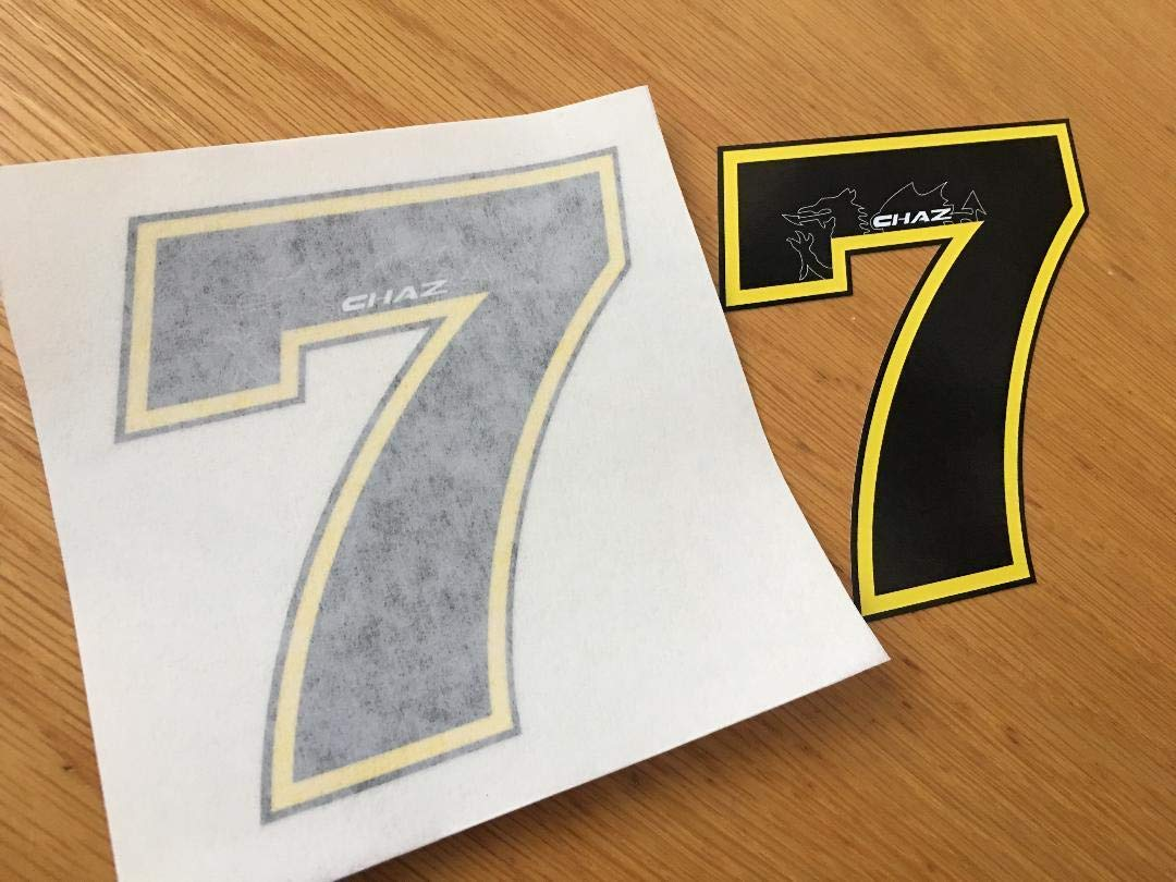 Chaz Davies Race Number 7 (small pair) Rapro Graphics