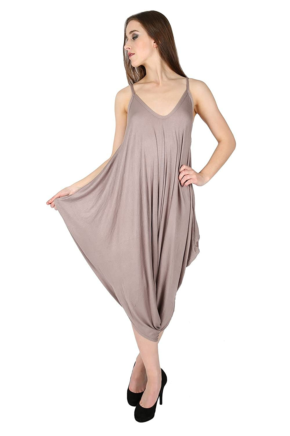 a153eb96e9 Oops Outlet Women s Thin Strap Lagenlook Romper Baggy Harem Jumpsuit  Playsuit  Amazon.ca  Clothing   Accessories