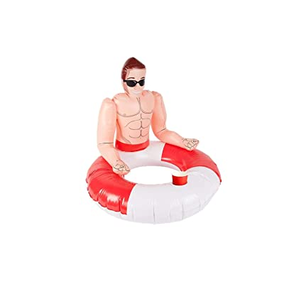 Inflatable Lifeguard Hunk Swim Ring: Clothing
