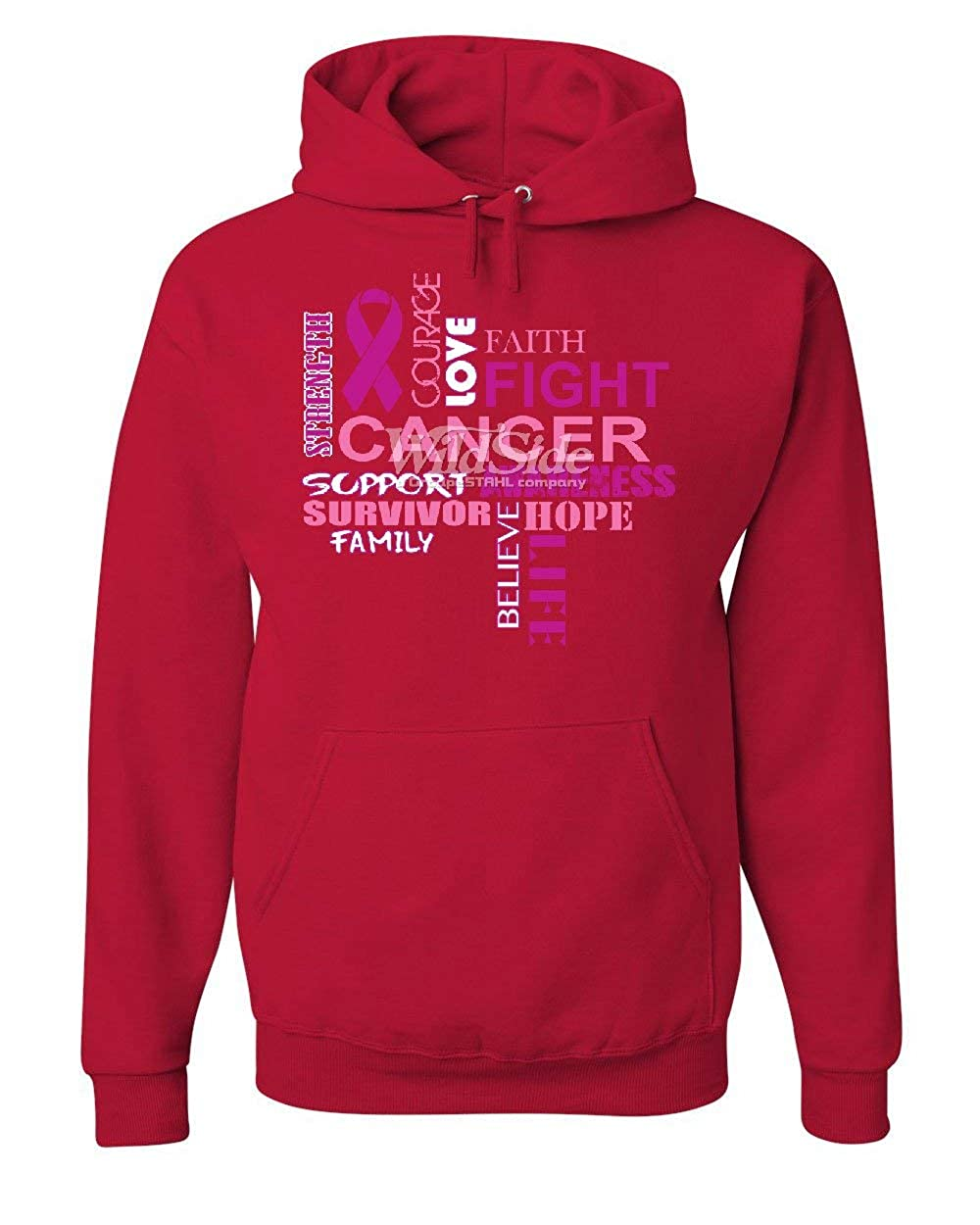 Tee Hunt Fight Cancer Hoodie Pink Strength Support Awareness Family Hope Sweatshirt
