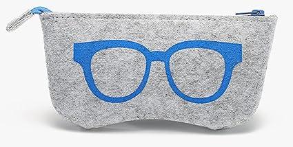 funnuf fieltro de lana Vintage gafas de sol caso caja cierre ...