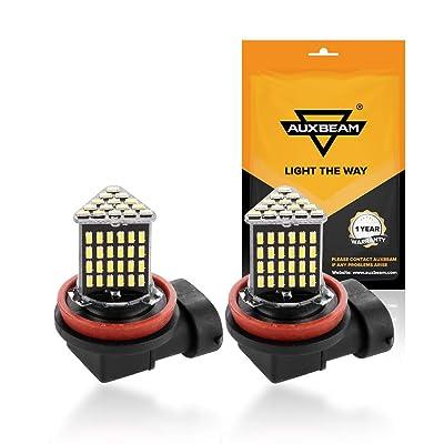 Auxbeam H11 H16/JP Led Fog Light Bulb 6000K 800 Lumens Xenon White Extremely Bright, Led Light Bulb for Signal, Turn, Parking, Tail Lights (Pack of 2): Automotive