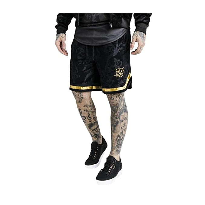 100% de satisfacción acogedor fresco precio atractivo Pantalón corto SikSilk Terciopelo negro x Dani Alves