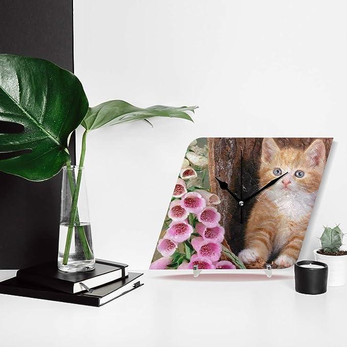 Amazon.com: Ladninag Wall Clock Innocent Cute Cats Silent Non Ticking Decorative Diamond Digital Clocks Indoor Outdoor Kitchen Bedroom Living Room: Home & ...