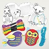 Baker Ross Kits de Décorations Créatures de la Forêt en Point de Croix que les Enfants pourront Confectionner (Lot de 5)
