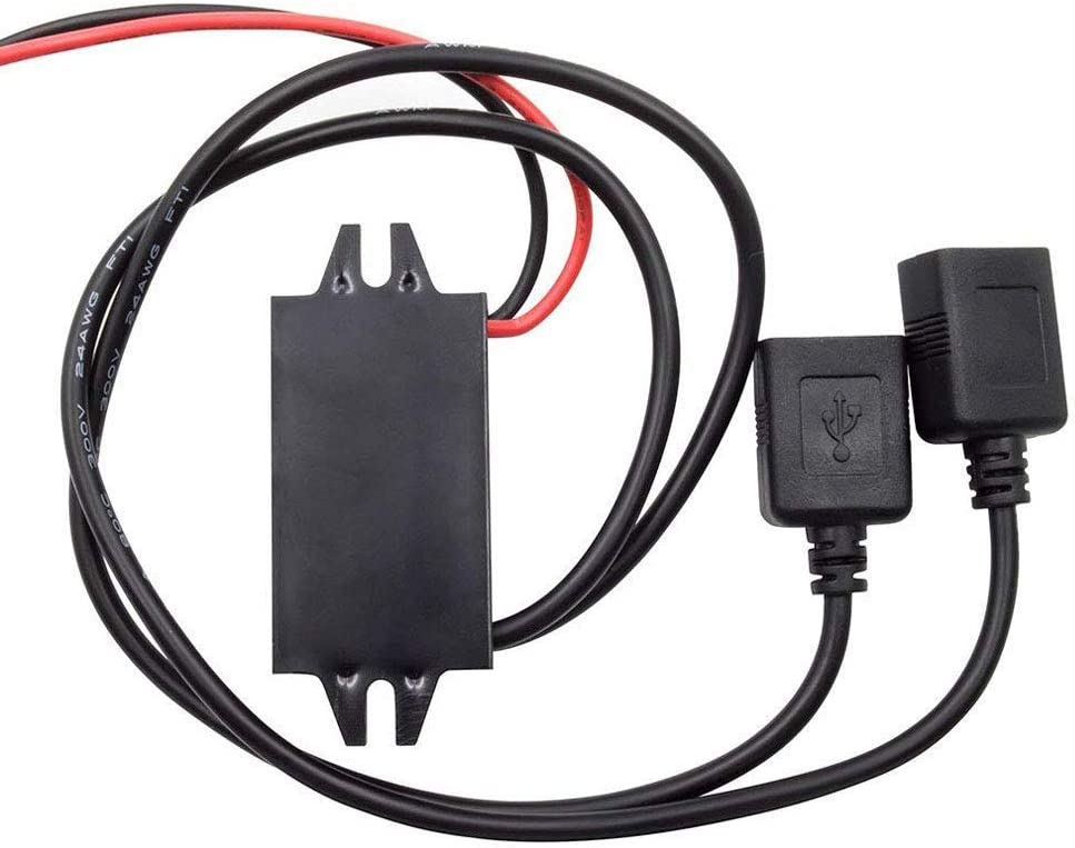 Stayhome 1PCS Car Boat Motorcycle Dual USB Charger DC 12V to 5V 3A Power Adapter Supply Car Dual USB Charger Waterproof