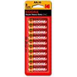 Kodak Super Heavy Duty AA 10 Pack Zinc Batteries (30410572)