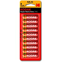 Kodak Super Heavy Duty AA 10 Pack Zinc Batteries (30410572)