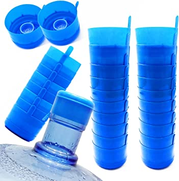 30 Pieces Non Spill Caps Anti Splash Bottle Caps Reusable,3 and 5 Gallon Water Jug Cap Replacement Non Spill Bottle Caps,Multi-Use Anti Splash Bottle Caps for 55mm Water Jug