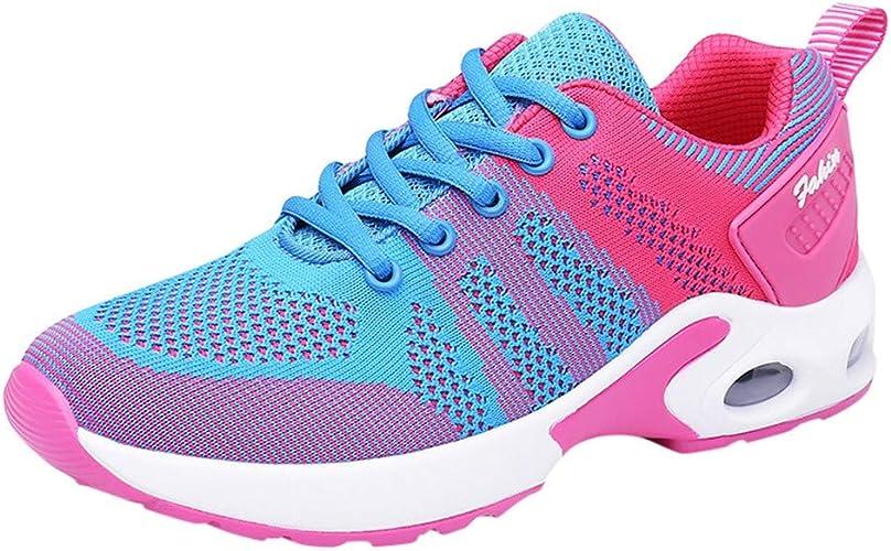 Zapatillas Deportivas de Mujer Running Zapatos para Correr Gimnasio Calzado Fitness Sneakers Calzado Deportivo de Exterio Zoelove/Azul,40: Amazon.es: Zapatos y complementos