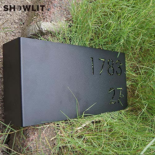 [해외]Showlit Bent House Number Plate Black Painted House Door Plate Customized Available / Showlit Bent House Number Plate Black Painted House Door Plate Customized Available