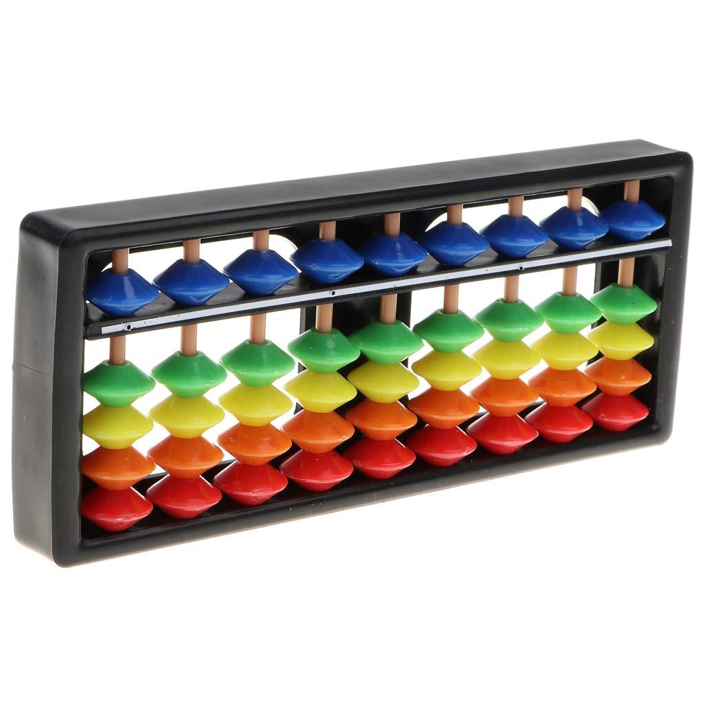Children Boys Girls Math Toy Japanese Soroban Calculator Calculating Tool Perfeclan 9 Columns 5 Beads Soroban Abacus