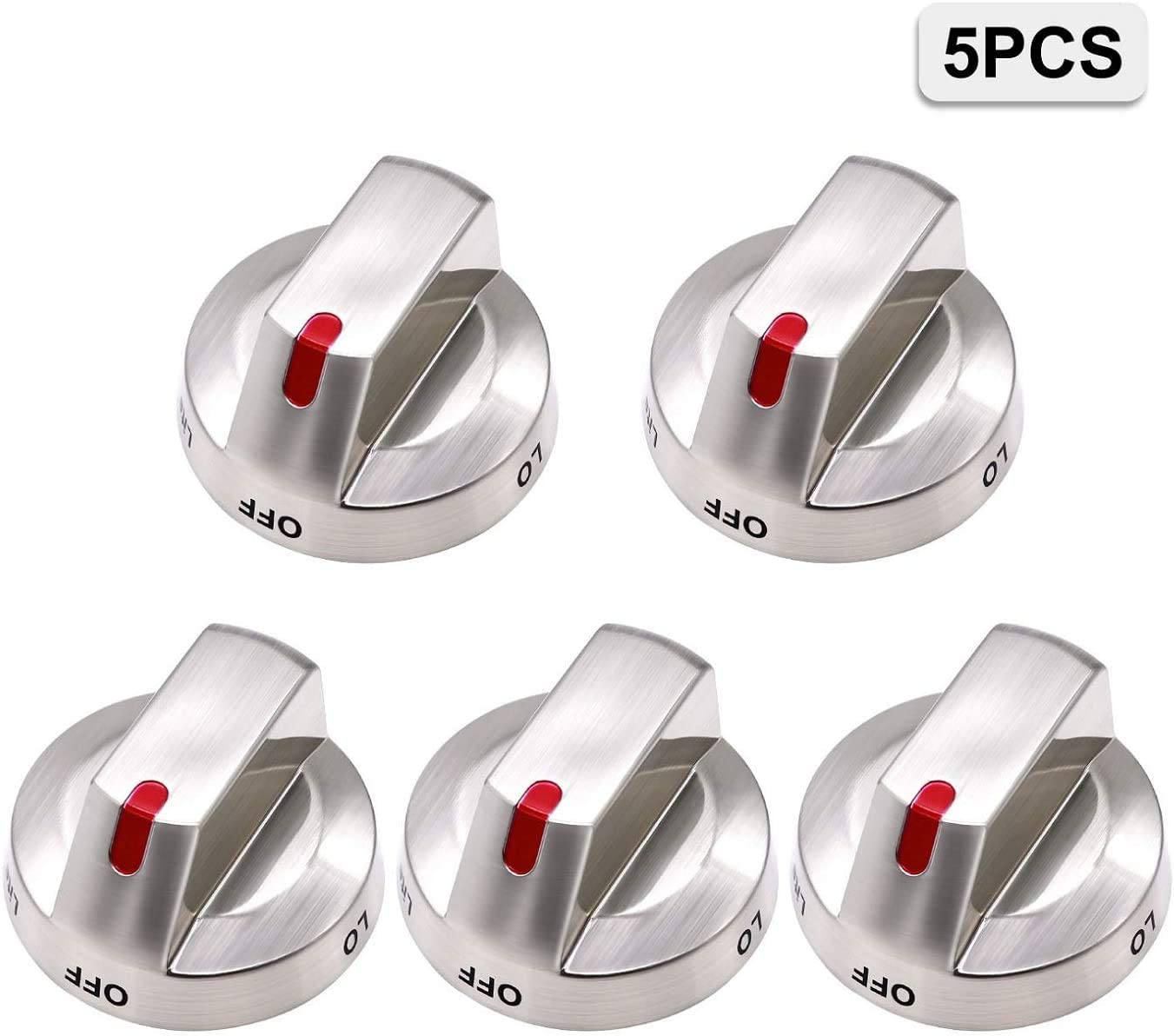 [Upgraded] DG64-00473A Range Burner Knob Dial by CC.KU, Compatible with Samsung Gas Range Oven, 5 Pack Replacement Part for AP5917439, PS9606608, DG64-00472A, DG64-00347B, DG64-00472B