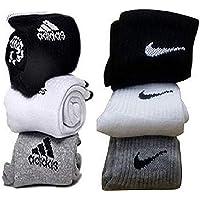 Misthi Unisex Cotton Ankle Length Socks (White and Black) - Pack of 6