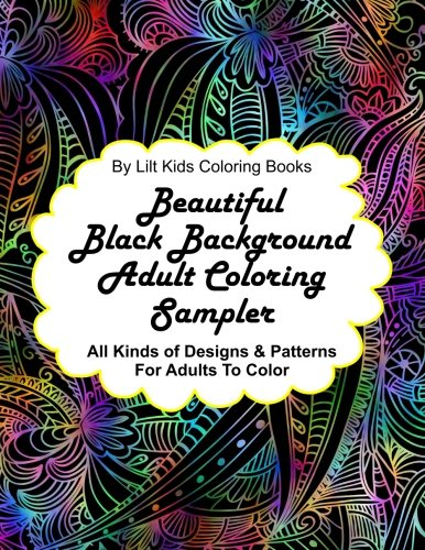 Beautiful Black Background Coloring Sampler product image