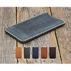 Sony Xperia Cover Leather Case Personalized Sleeve Pouch Shell Monogram your Name or Initials, for Sony Xperia L1 E5 X Compact Performance X2 XA Ultra XA1 XZ Premium XZs Z1 Z3 Z5 C5 M5 Plus C4 M4