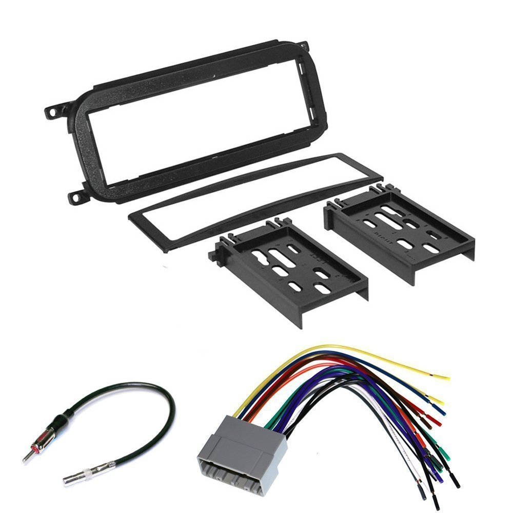 Jeep Wrangler Stereo Dash Kit Chrysler Radio Wiring Harness Connectors Car Cd Player Install Mounting Trim Bezel Panel For Dodge