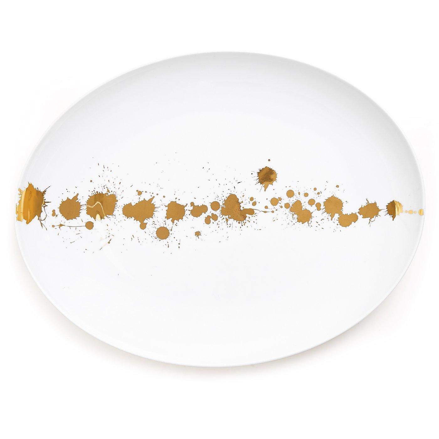 Jonathan Adler 21257 1948 Oval Plate, Gold