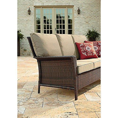 Patio Furniture Sofa Only Outdoor Love Sofa 3 Seats Comfortable