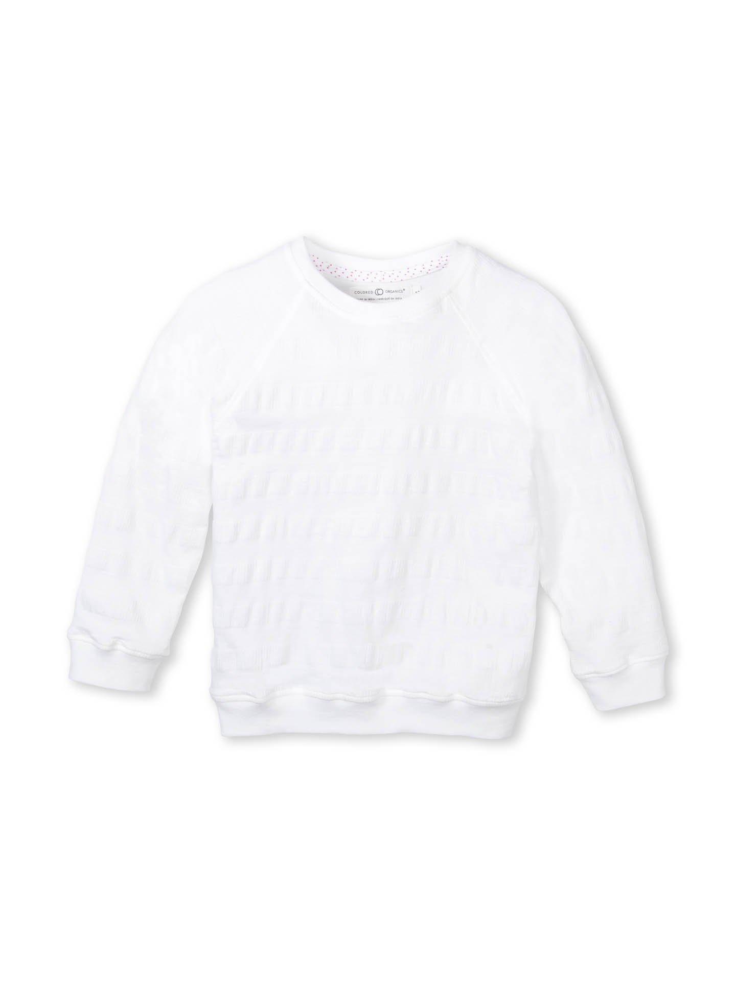 Colored Organics Girls' Organic Cotton Pullover Top - White - 4T