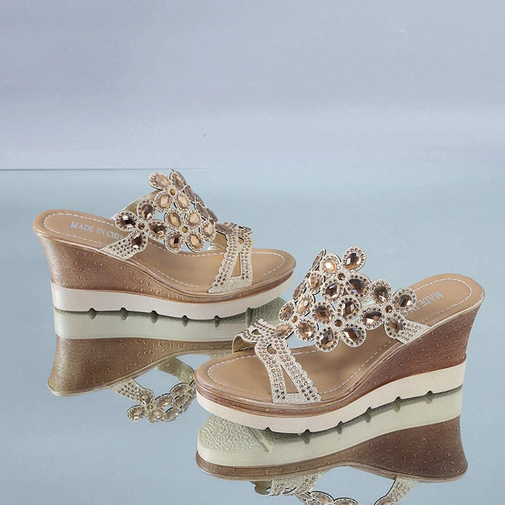 New girl/'s kids wedge sandals buckle blink blink casual open toe summer Gold