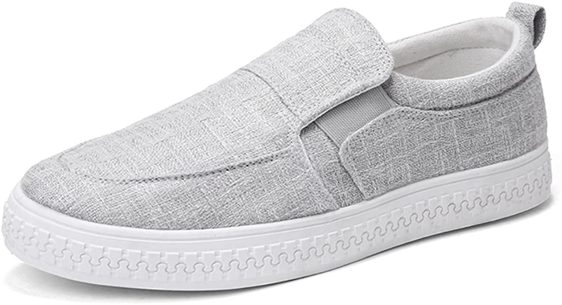 half off ad608 3a4f2 Men s Casual Slip On Canvas Shoes Espadrilles Plimsolls Pumps Loafers Deck Trainers  Size UK 6-10