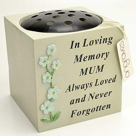 Angraves Special Mum Diamante Flower Graveside Memorial Pot Grave ...