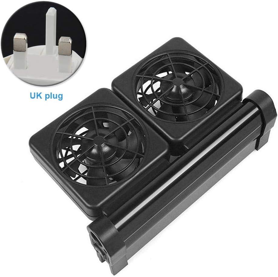 Ventola di raffreddamento per acquario, 12 V, regolabile, 2/3/4, in lega di alluminio, sistema di raffreddamento per acquario, 2 velocità di vento, regolabile