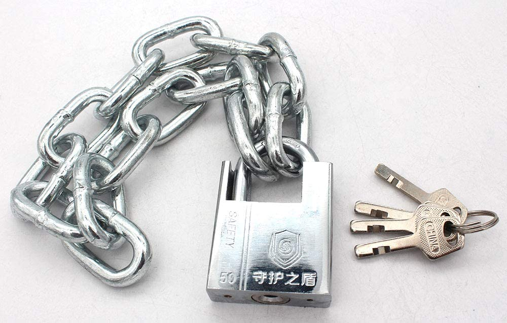 Security Chain Lock Bikes Cannot Be Cut with Bolt Cutters Or Hand Tools for Motorcycles Premium Case-Hardened Security Chain and Lock Kit Nearly Impossible to Defeat