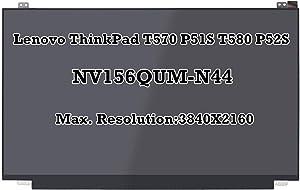 "15.6"" IPS LCD LED Screen IPS 3840X2160 UHD Display Panel NV156QUM-N44 For Lenovo Thinkpad T570 P51S T580 P52S SD10L85341 FRU: 00UR894"