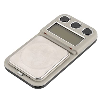 SODIAL Basculas de pesaje de joya de oro de bolsillo digital de doble precision 100/
