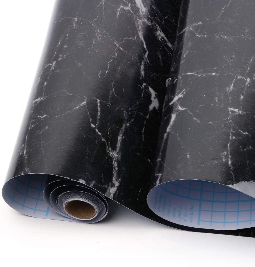 Backsplash Arbeitsplatte Aluminiumfolie M/öbeldekoration f/ür K/üche abziehen und aufkleben 60 x 500 cm selbstklebendes Kontaktpapier auf Rolle Yizunnu 5 m Marmor-Aufkleber Wandaufkleber
