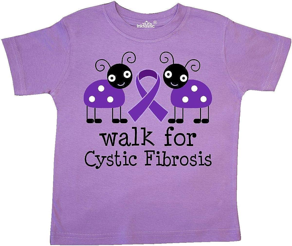 inktastic Cystic Fibrosis Walk Purple Ribbon Toddler T-Shirt