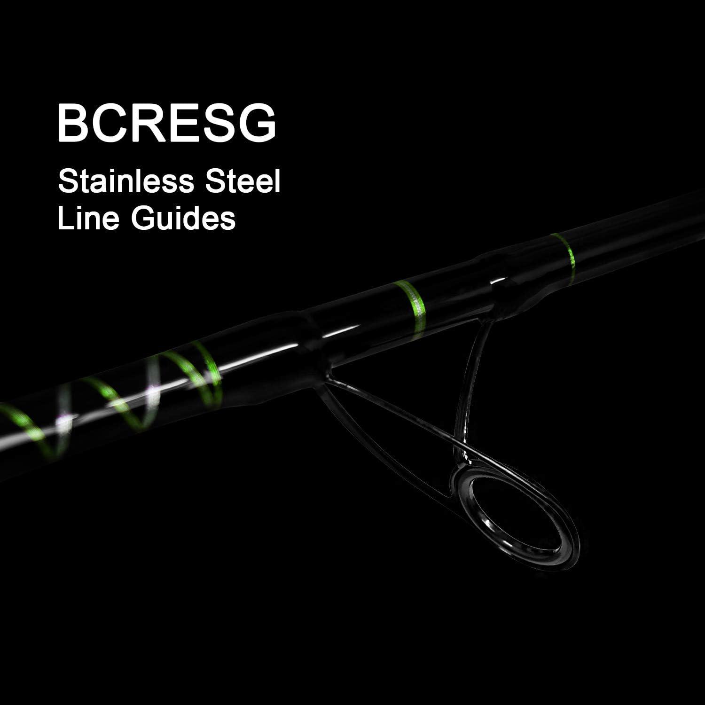 Fiblink Saltwater Jigging Spinning//Casting Rod 1-Piece Jig Pole Deep Sea Speed Fishing Rod 30-50lb//50-80lb//80-120lb, 5-Feet 6-Inch