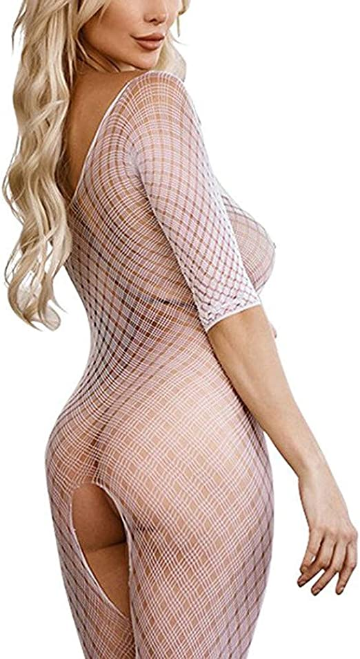 Womens Regular and Plus Size Chemise Floral Lace Off Shoulder See Through