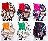 Adababy Reusable Washable AIO Pocket Baby Cloth Diaper Nappies 6 PCS (multicolored)