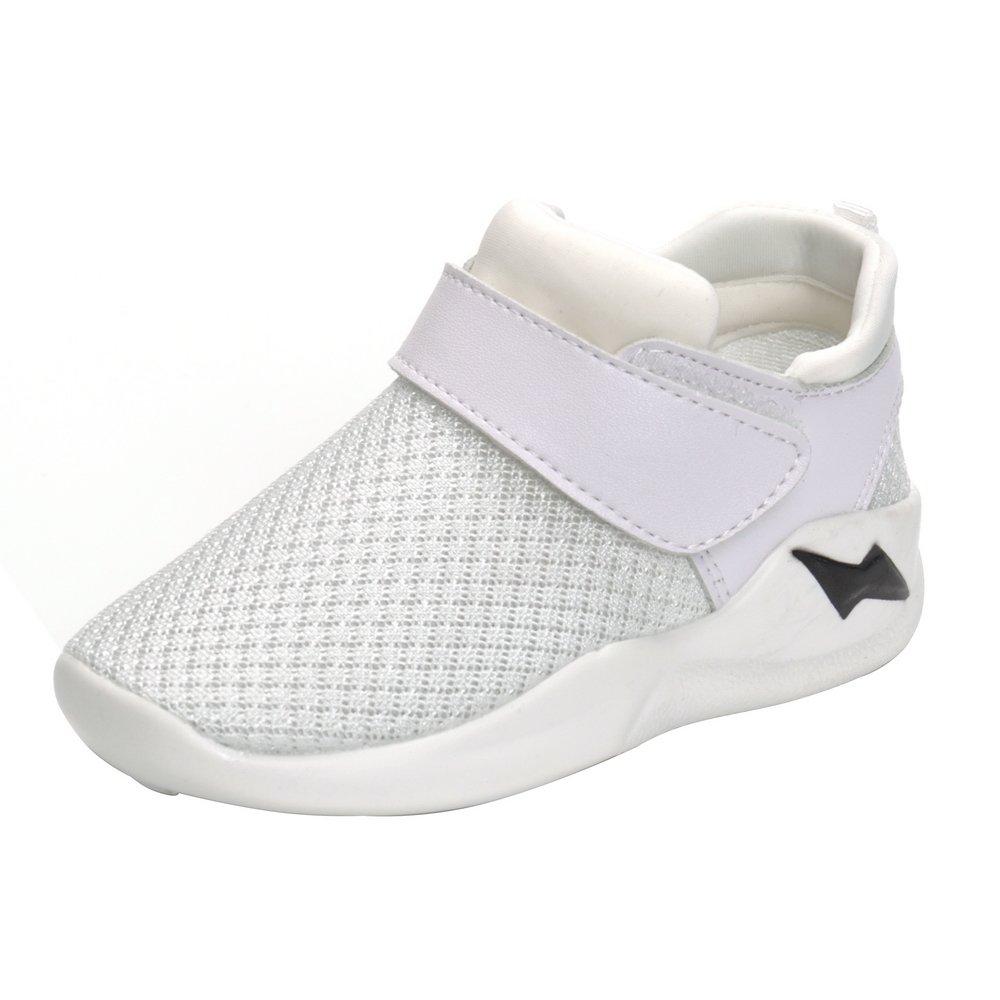 MK MATT KEELY Kids Mesh Running Sneakers Baby Boys Girls Anti-Slip Casual Shoes White 26