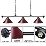 Wellmet Pool Table Lights for 8'/9' Table with 3
