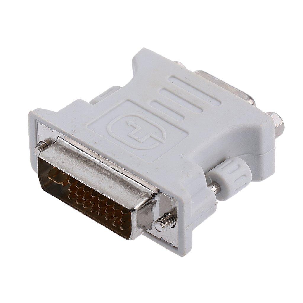 Amazon.com: Male DVI-D to Female VGA Adapter (DVI 24+1 Pin ...