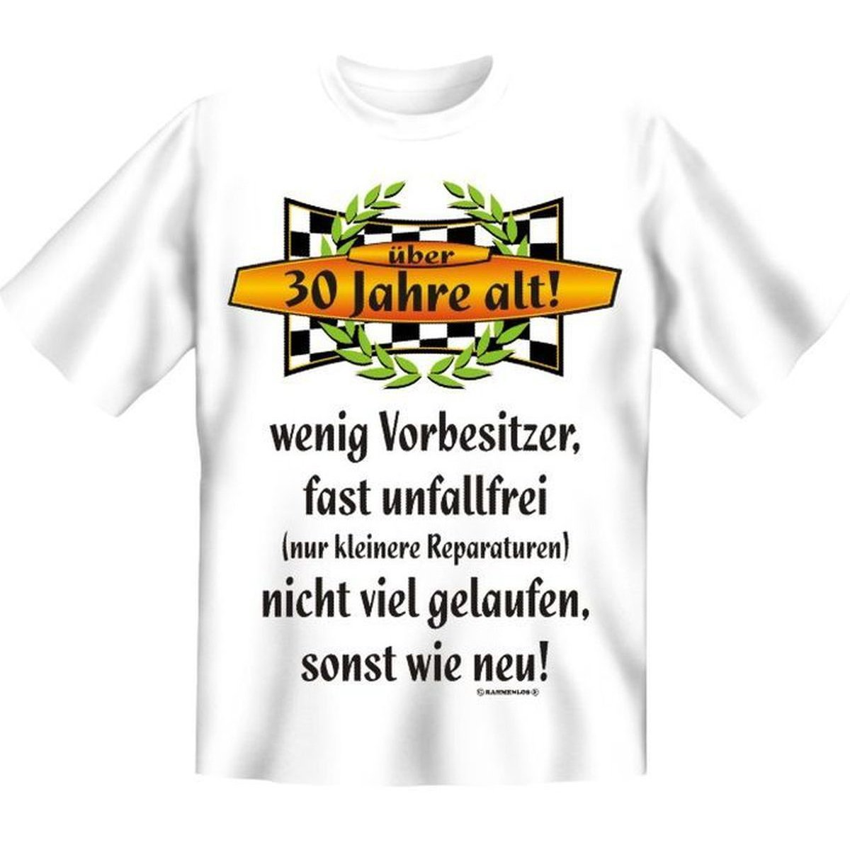 Außergewöhnlich 30.Geburtstag Spass T Shirt 30 Jahre Alt! Wenig Vorbesitzer ... Fb Weiss:  Amazon.de: Sport U0026 Freizeit