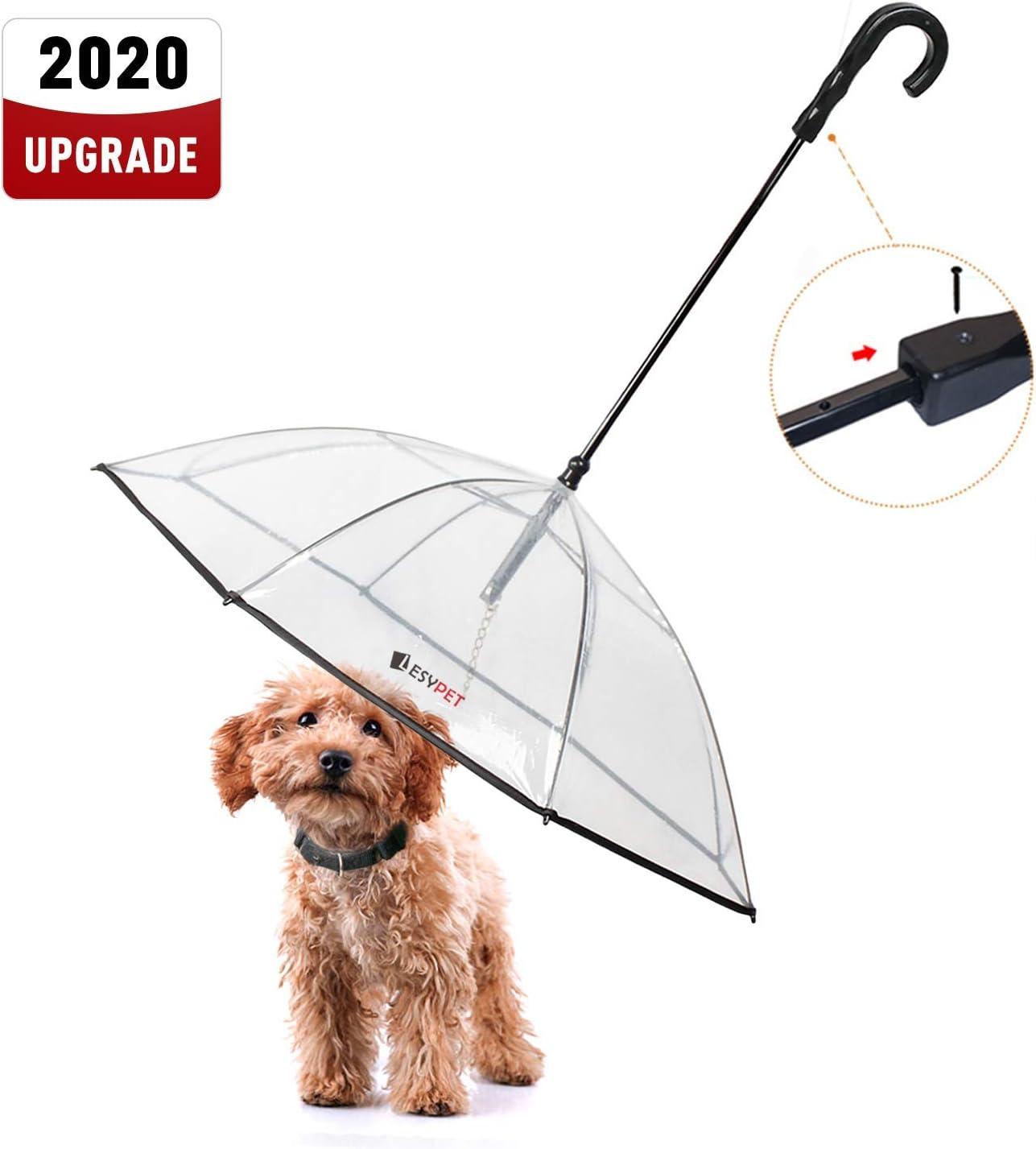 """Amazon.com : LESYPET Pet Umbrella Dog Umbrella with Leash, Fits 20"""" Pet's  Back Length : Pet Supplies"""