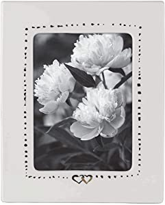 Kate Spade New York Bridal Party 5x7 Wedding Picture Frame, White and Gold Porcelain