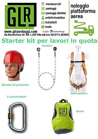 Kit para trabajos de quota Casco Arnés Anticaída cordón ...